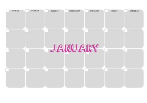 Monthly Calendar Preview